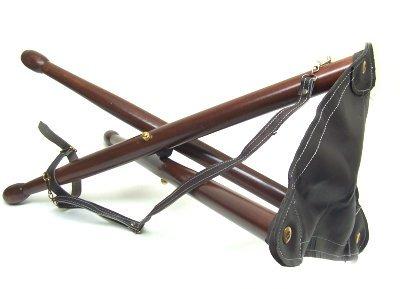 Seggiolino 3 piedi in legno sgabello portatile richiudibile delfiero