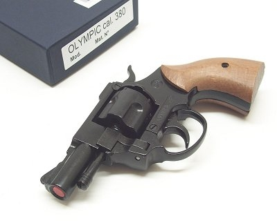 Bruni Black Olympic Blank Top Firing Revolver Delfiero S r l