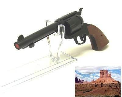 Bruni S a  Western Blank Top Firing Revolver For Cinema