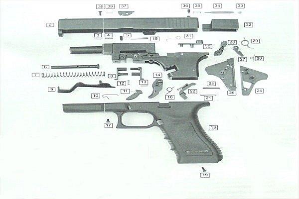 Spare Parts Kit For Gap Bruni Blank Gun Caliber 8 M Delfiero S r l